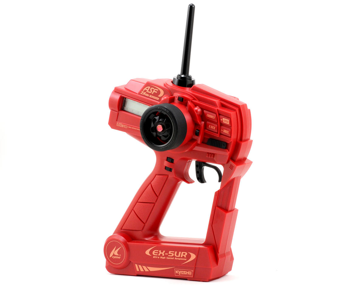 Kyosho Perfex Limited Edition EX-5UR ASF 2.4GHz 3 Channel Transmitter (Red)