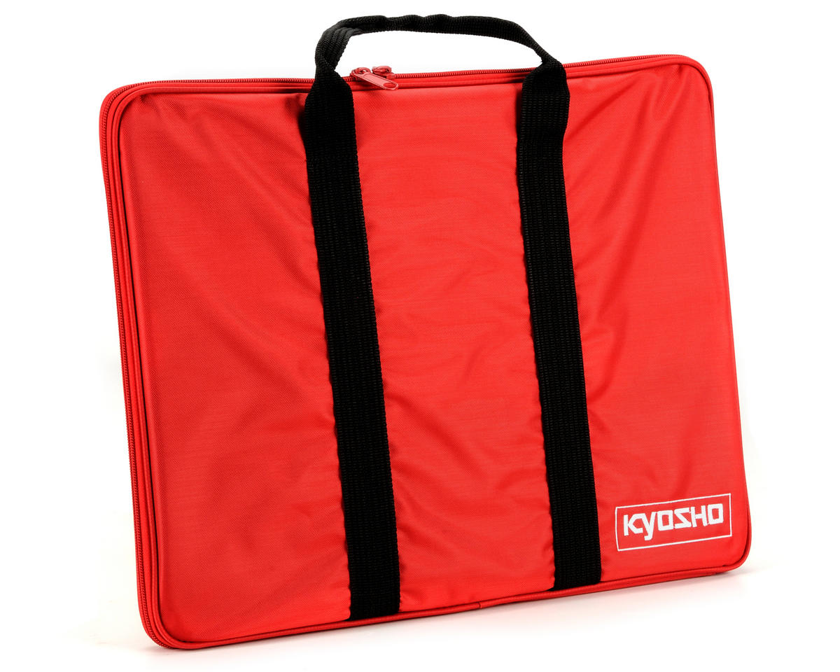 Kyosho 440x330mm Glass Setup Board w/Carry Bag