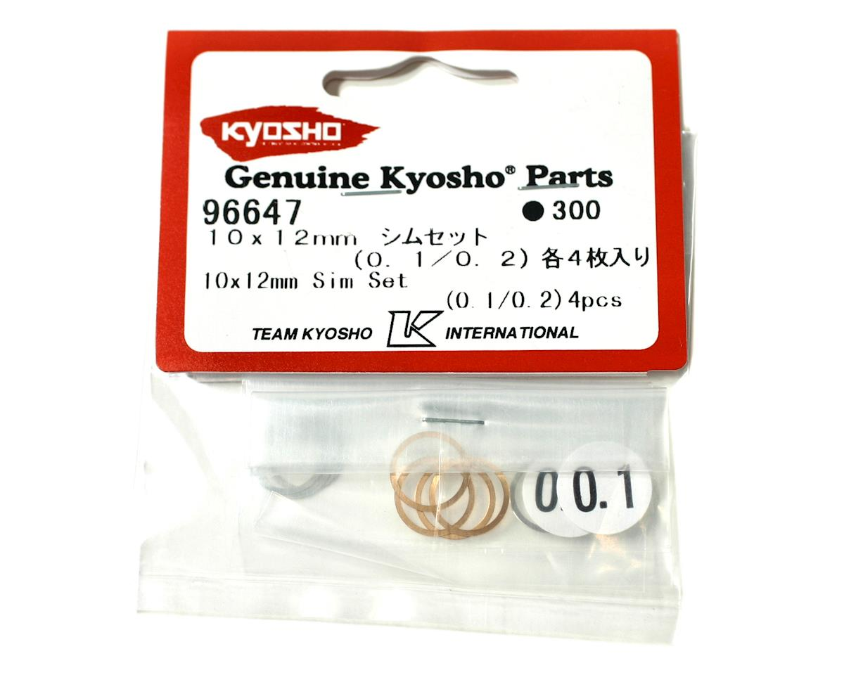 10x12mm Shim Set (0.1mm/0.2mm) (8) (ZX-5) by Kyosho
