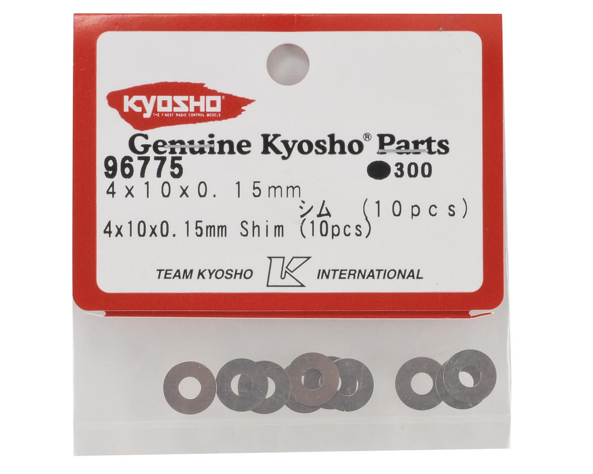 4x10x0.15mm Shim Set (10) by Kyosho