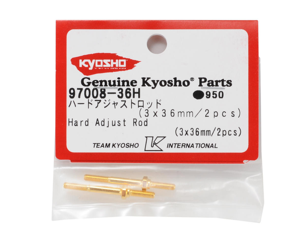 Kyosho 3x36mm Steering Servo Adjustment Rods (2)