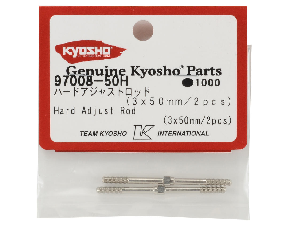 Kyosho 3x50mm Hardened Steel Turnbuckle Set (2)