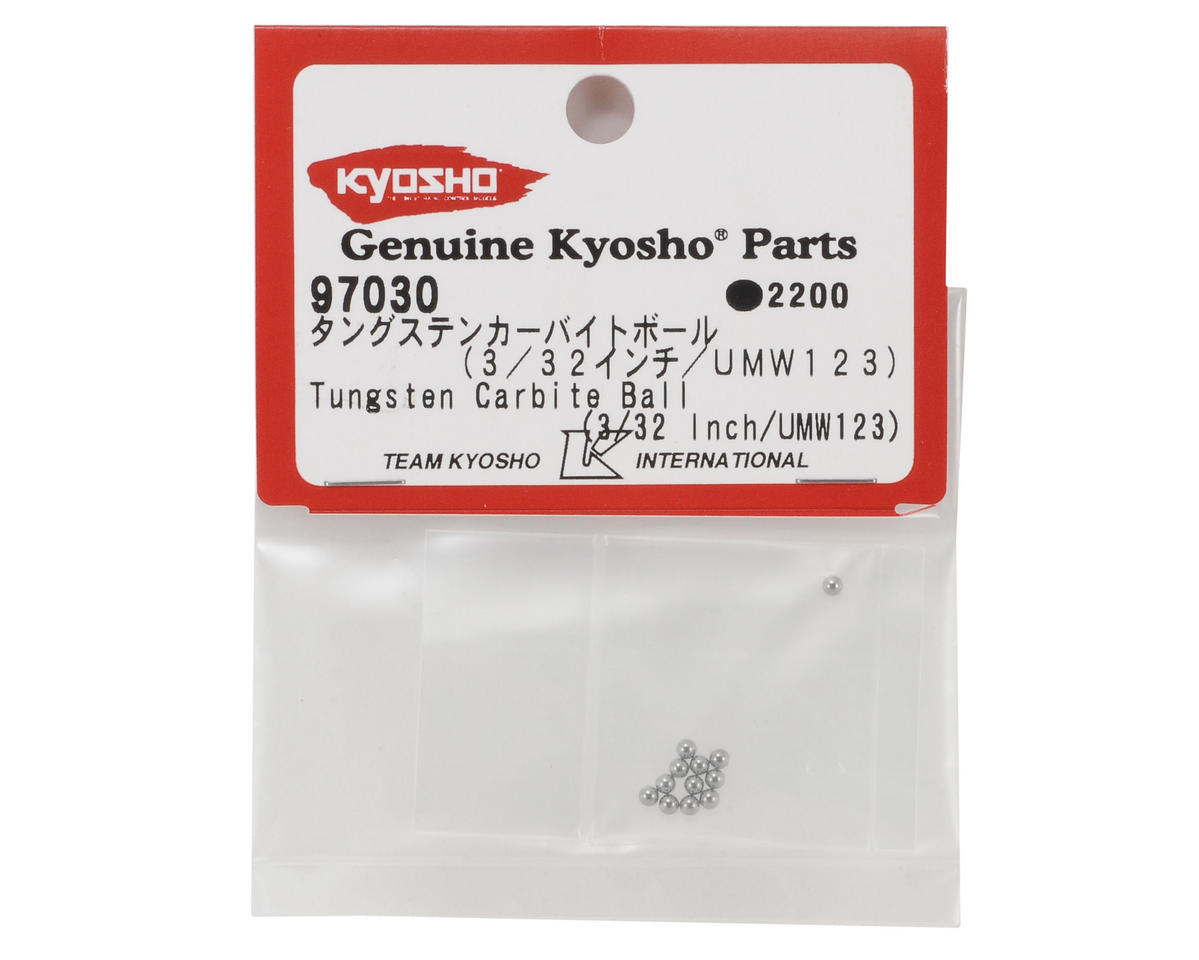"3/32"" Tungsten Carbide Differential Ball (12) by Kyosho"