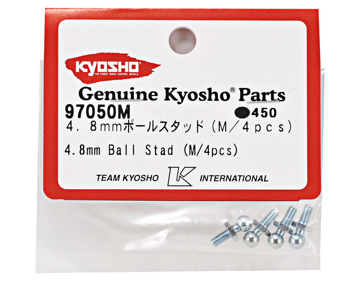 4.8mm Medium Ball Stud Set (4) (FS2 SP) by Kyosho