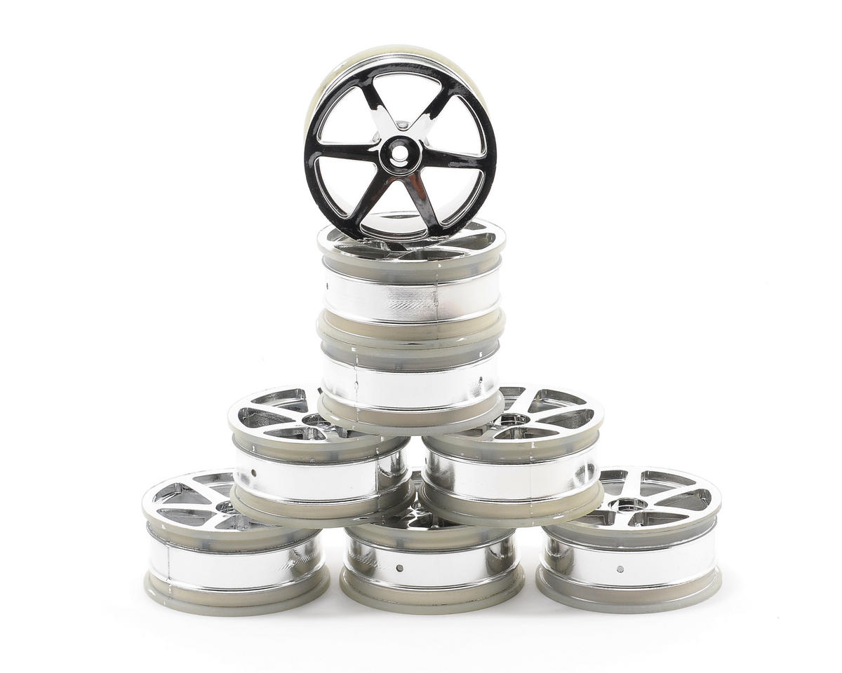 Kyosho 24mm 6-Spoke Chrome Plated Wheel (8)