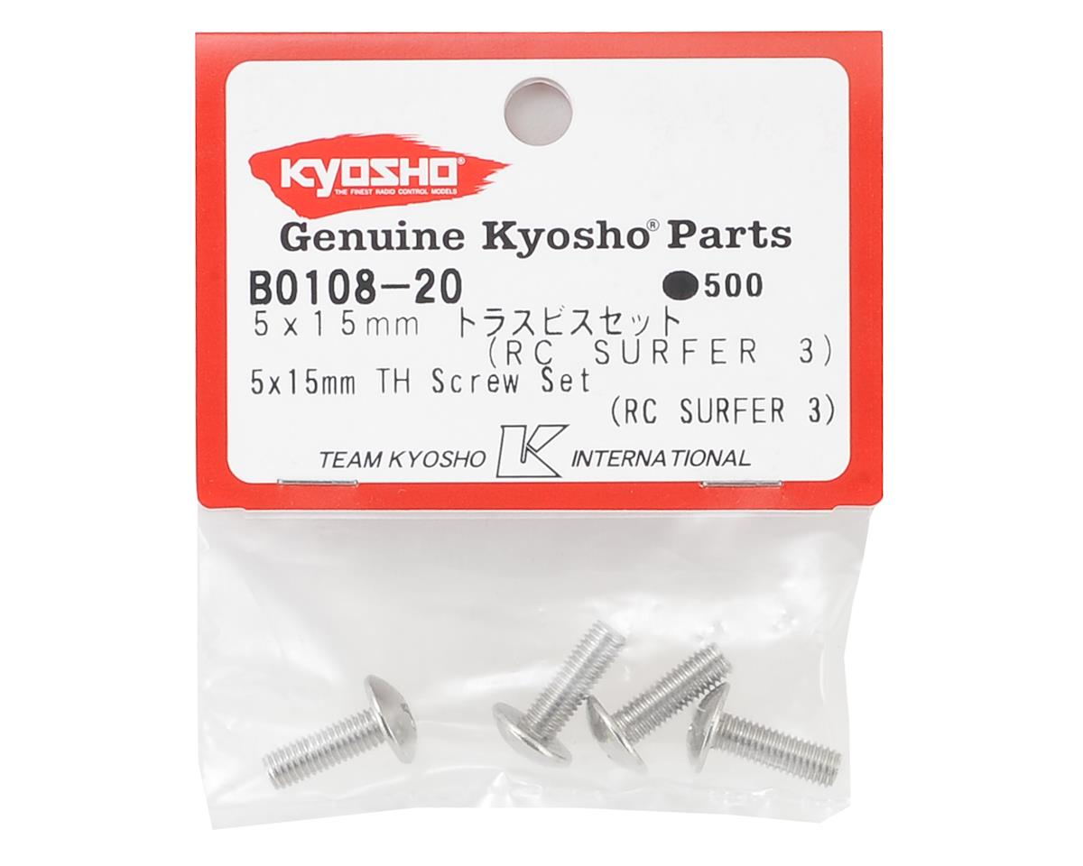 5x15mm Button Head Phillips Top Hatch Screw (4) by Kyosho