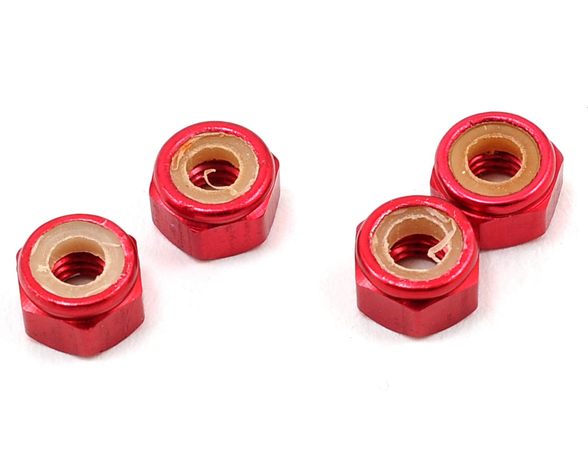 Kyosho Jetstream 888 M4 Propeller Nut (Red) (4)