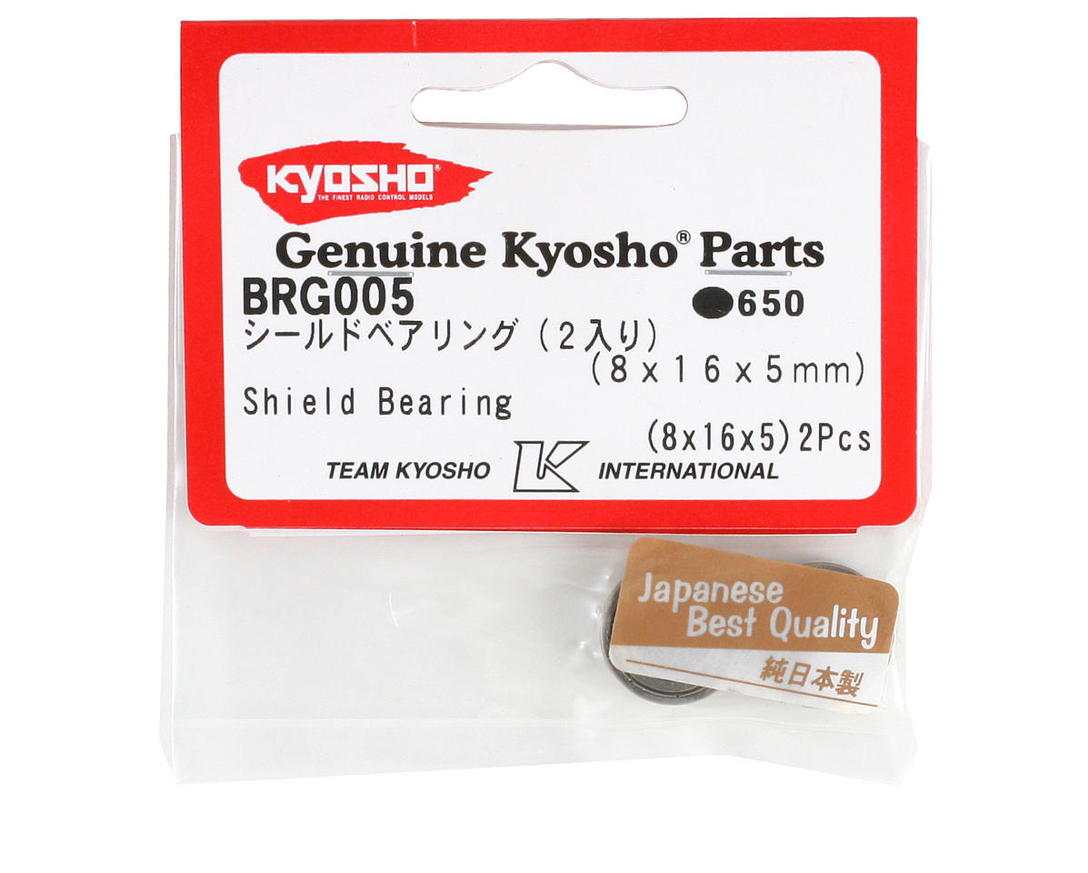 Kyosho 8x16x5mm Metal Shield Bearing (2)