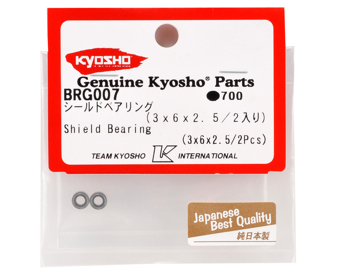Kyosho 3x6x2.5mm Metal Shielded Ball Bearings (2)