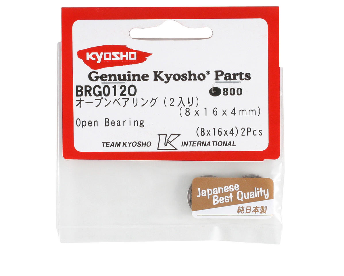 Kyosho 8x16x4mm Open Bearing (2)