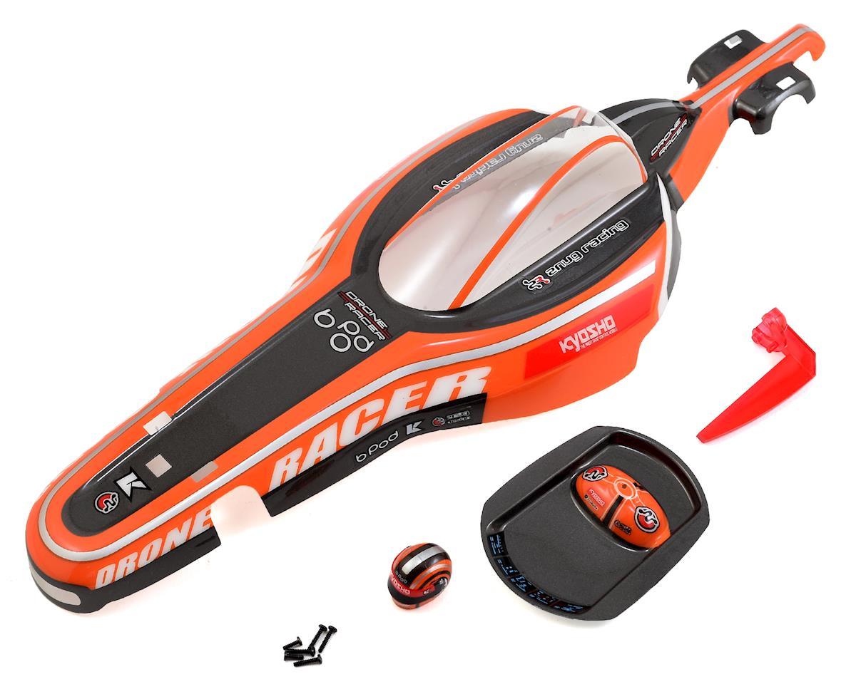 B-Pod Drone Racer Lexan Body Set (Orange) by Kyosho