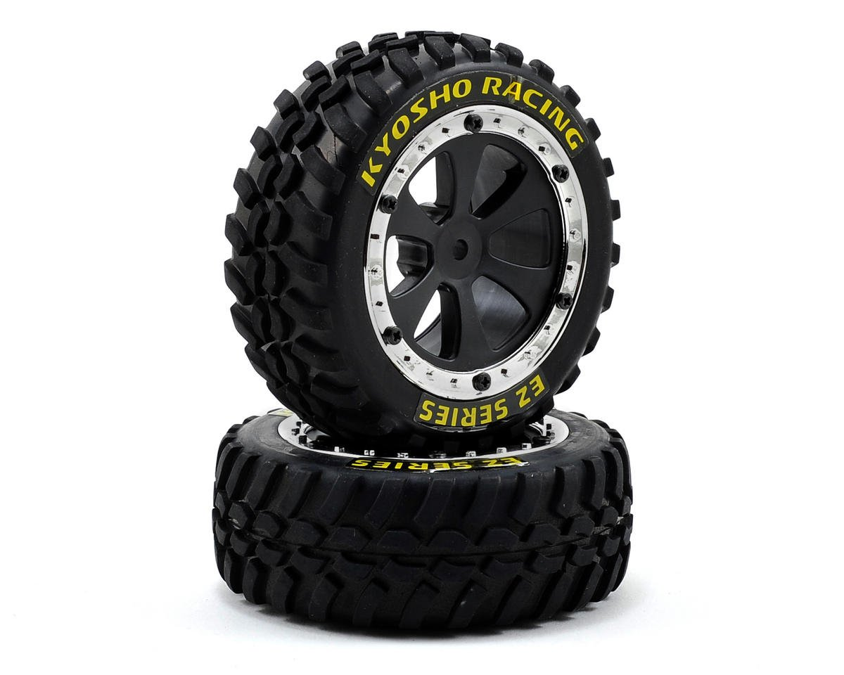 Kyosho Sand Master Tire & Wheel Set (2)