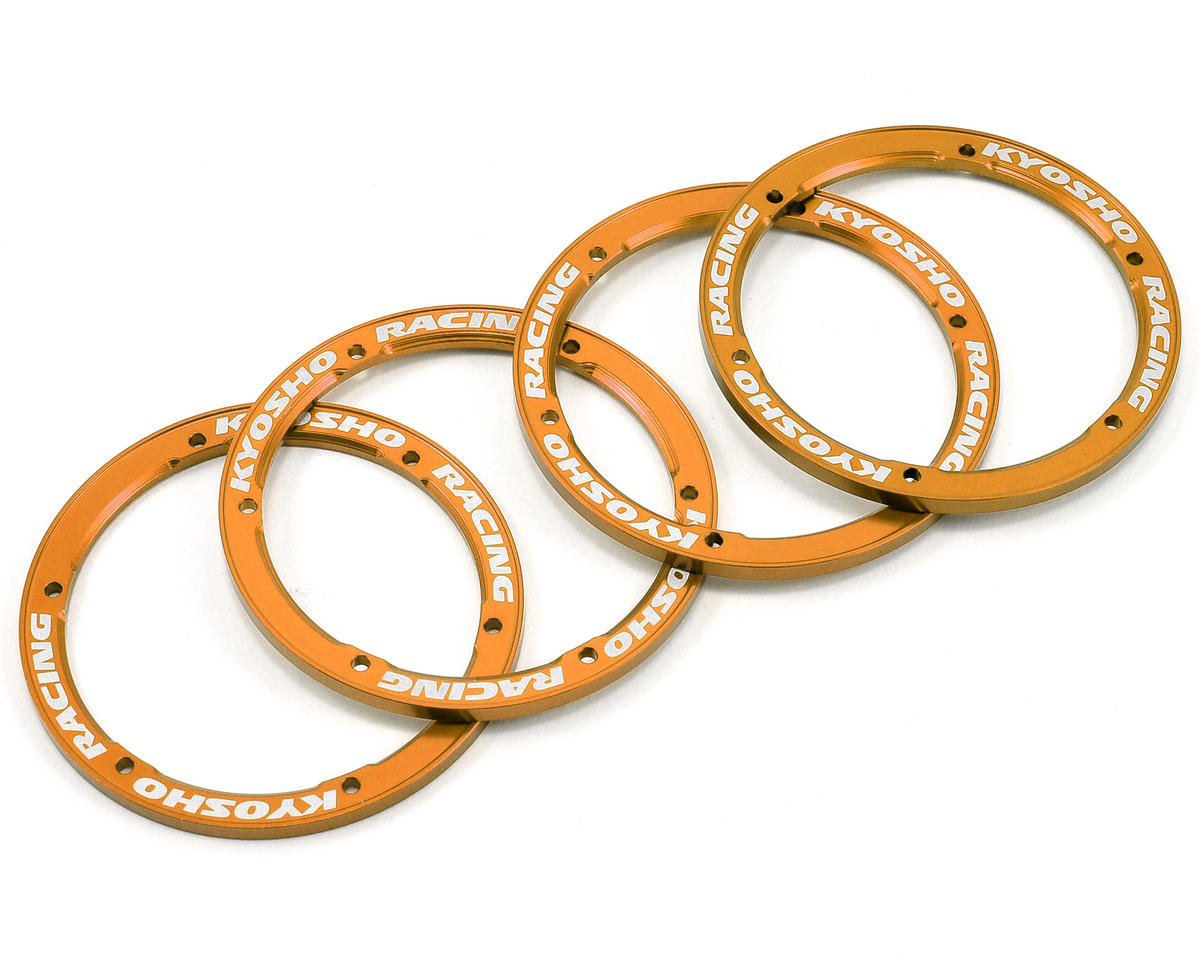 Kyosho Aluminum Wheel Cover (Gold) (4)