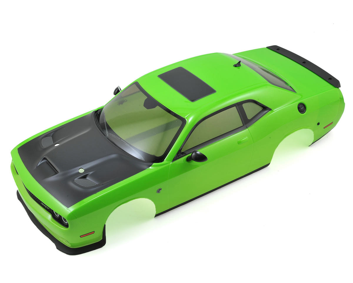 200mm Complete Dodge Challenger Hellcat Body Set (Green) by Kyosho