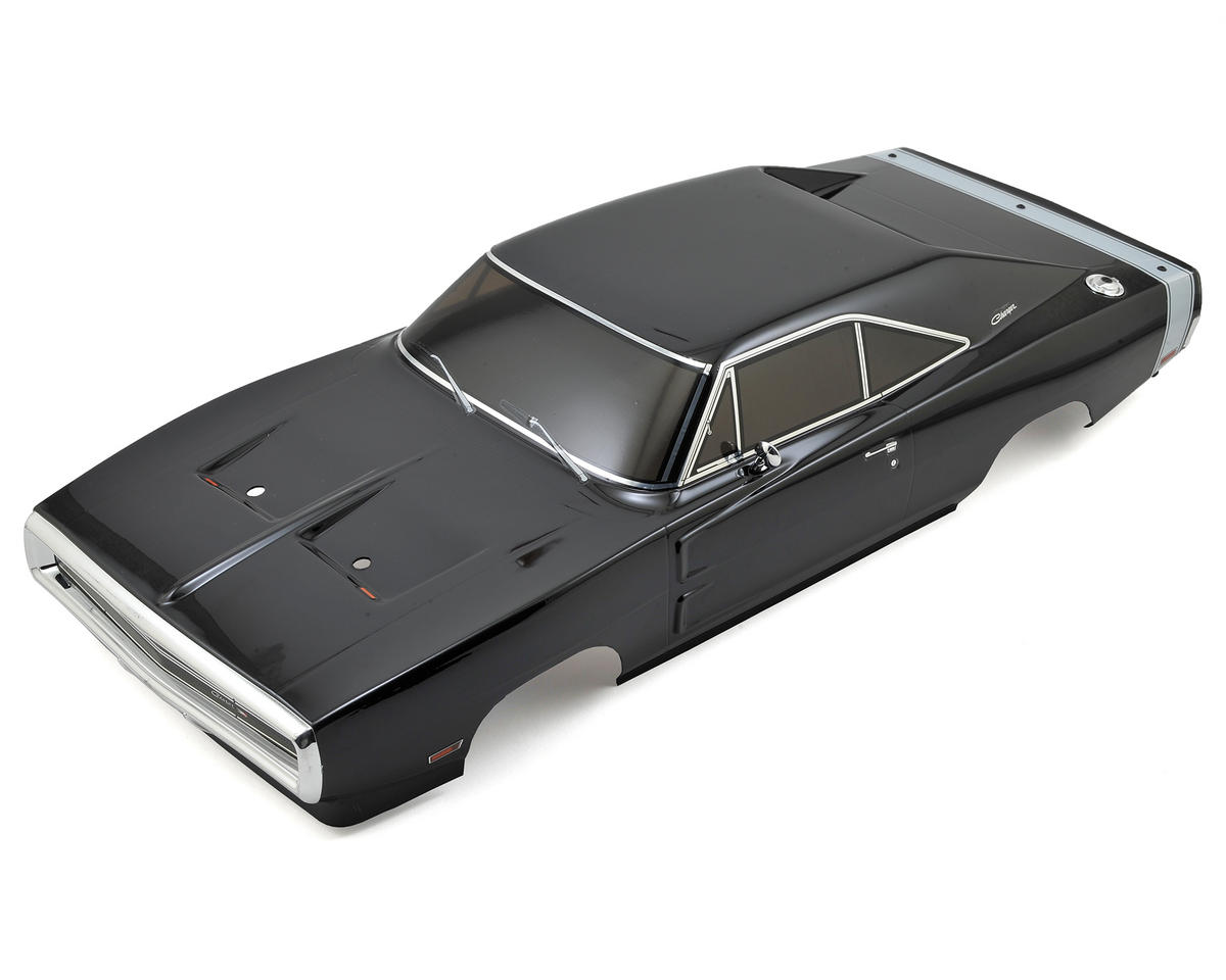 Kyosho 200mm Complete Dodge 1970 Charger Body Set (Black)