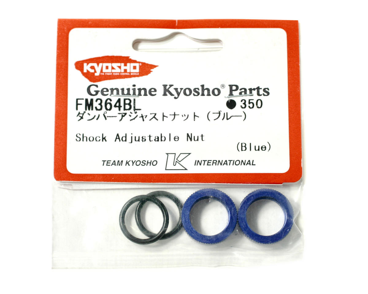 Kyosho Blue Shock Adjuster Nut w/O-Rings (2)