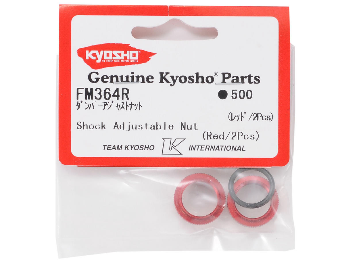 Shock Adjustable Nut (Red) (2) by Kyosho