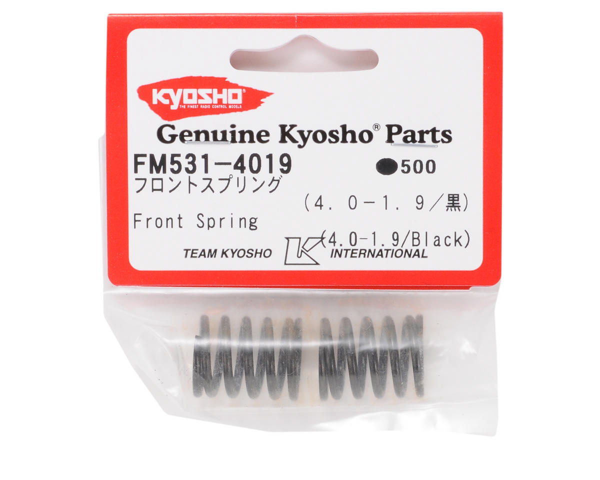 Kyosho Front Shock Spring (2) (Black - 4.0-1.9)
