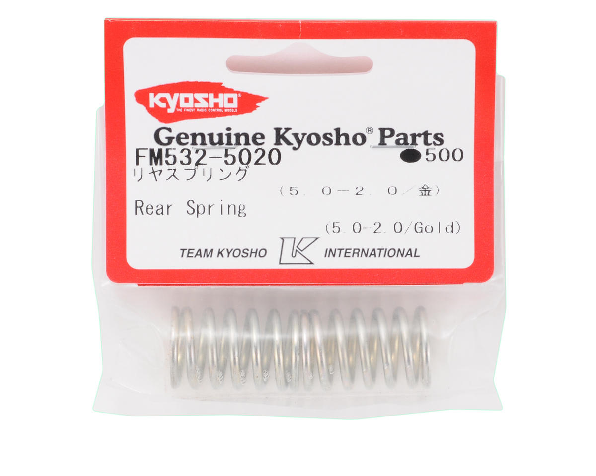 Kyosho Rear Shock Spring (2) (Gold - 5.0-2.0)