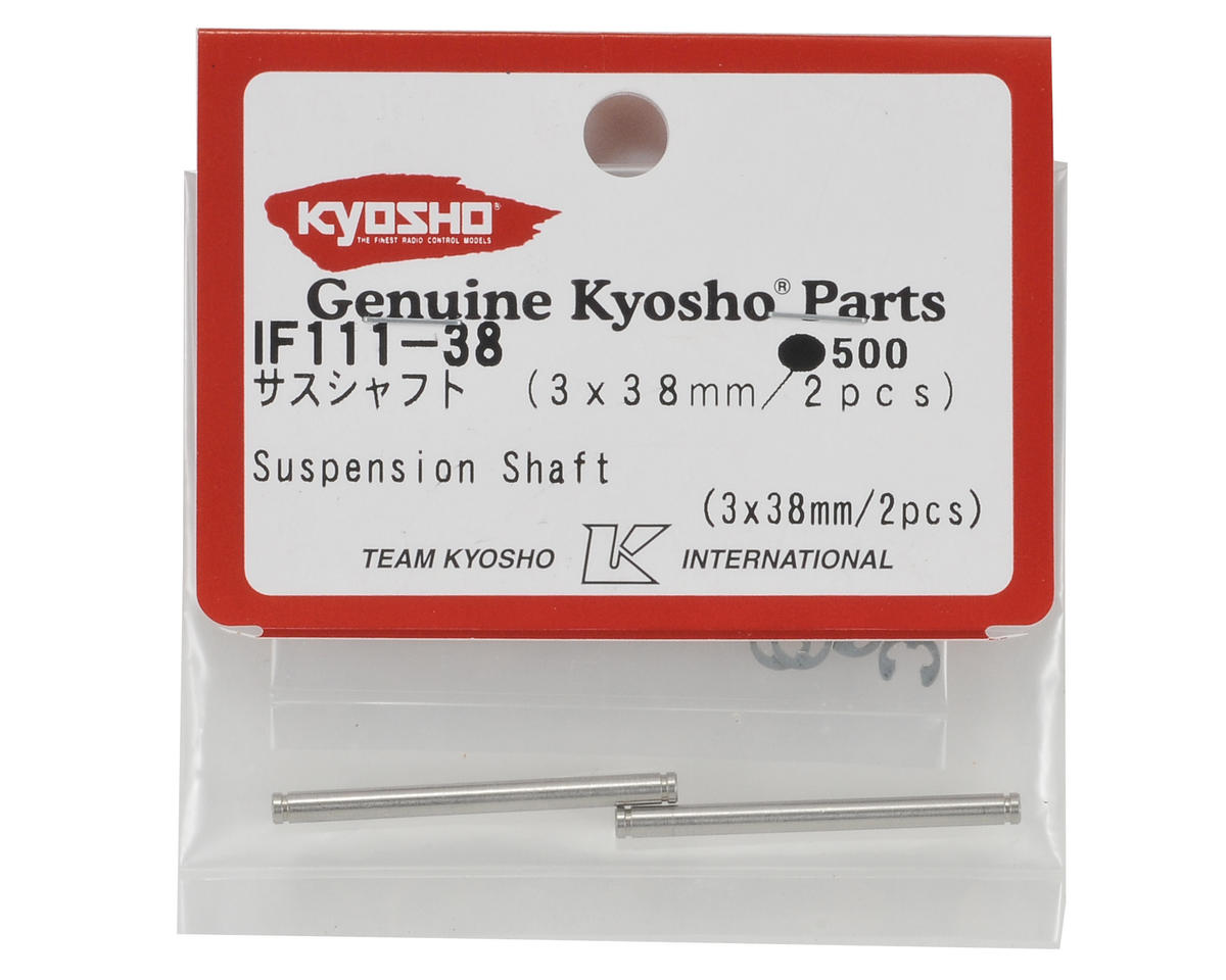 Kyosho 3x38mm Front Hub Suspension Shaft Set (2)