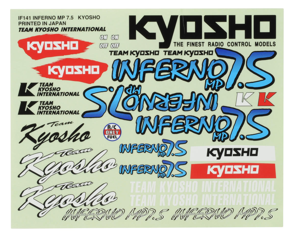 Kyosho MP7.5 Decal Set