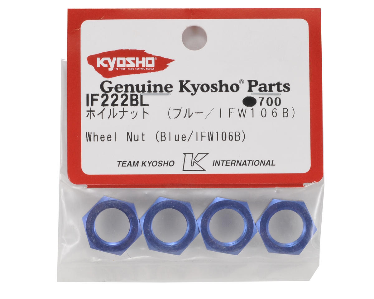 Kyosho 17mm Wheel Nut (Blue) (4)