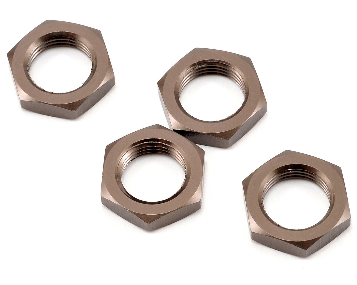 Wheel Nut Set (Gunmetal) (4) by Kyosho