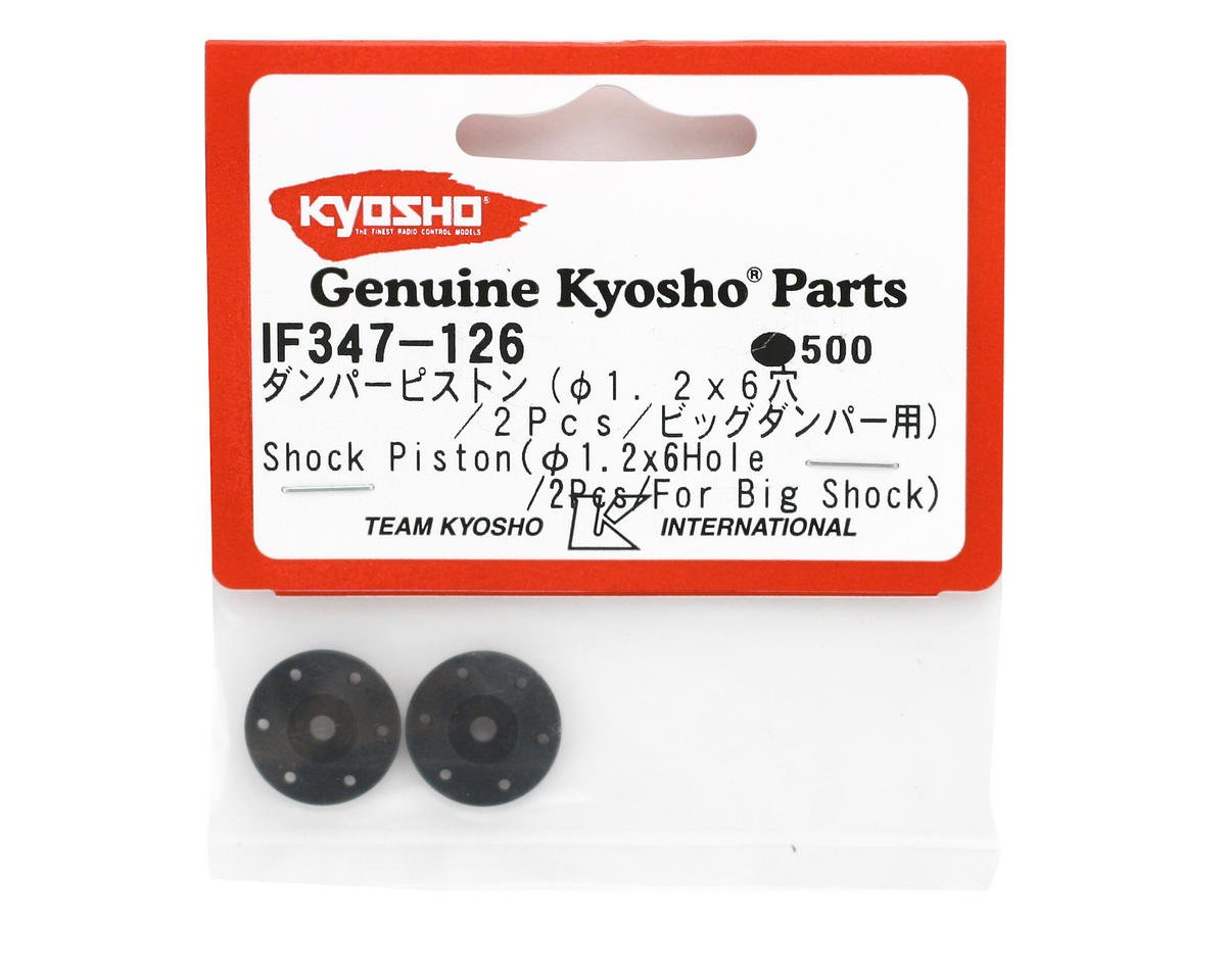 Kyosho Big Bore Shock Piston (1.2 x 6 hole) (2)