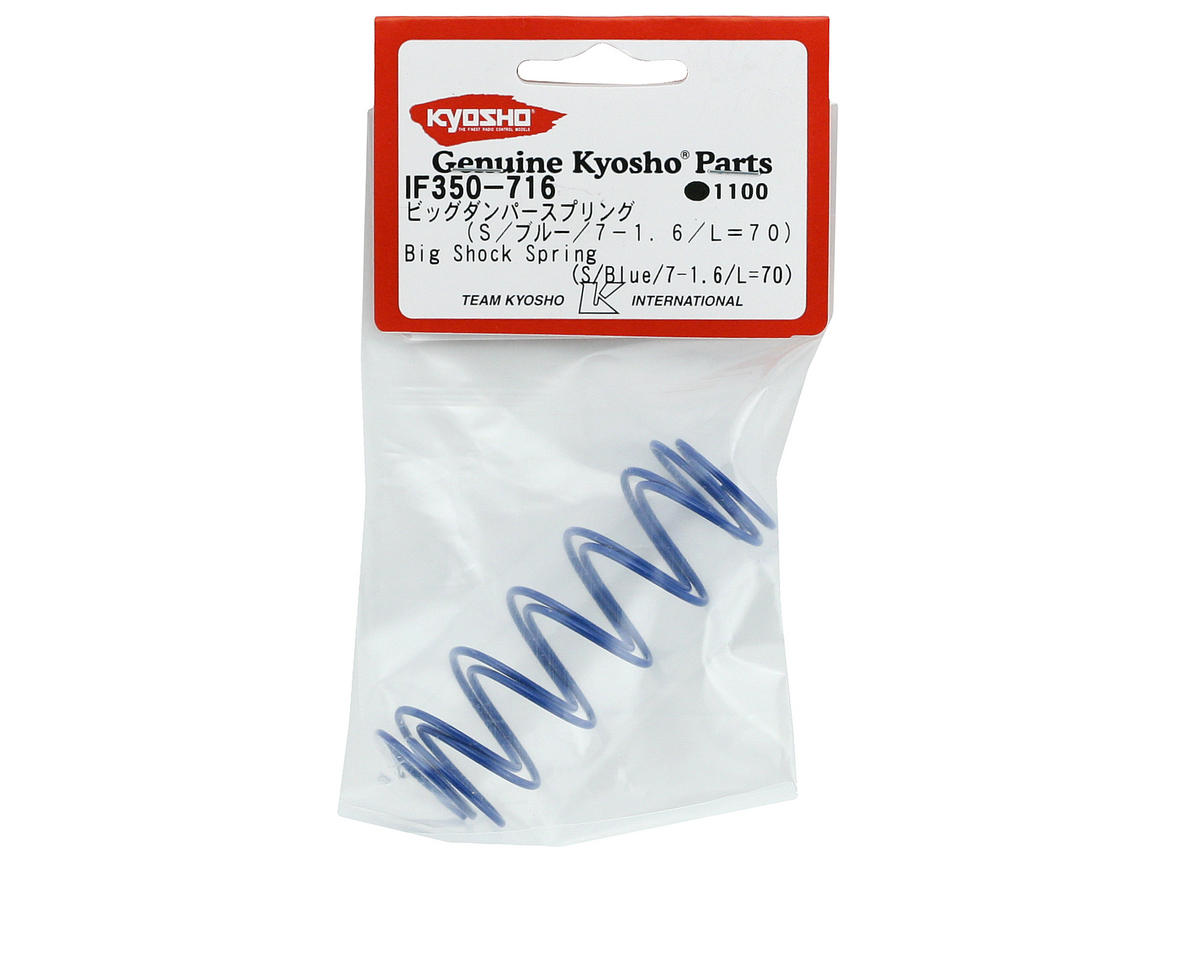 Kyosho 70mm Big Bore Front Shock Spring (Blue) (2)