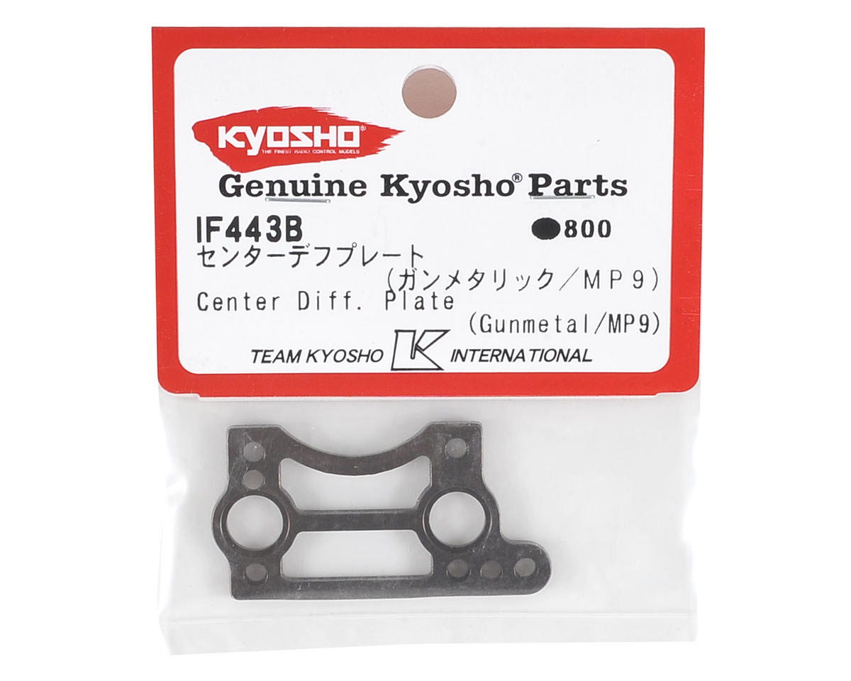 Kyosho MP9 TKI4 Center Differential Plate (Gunmetal)