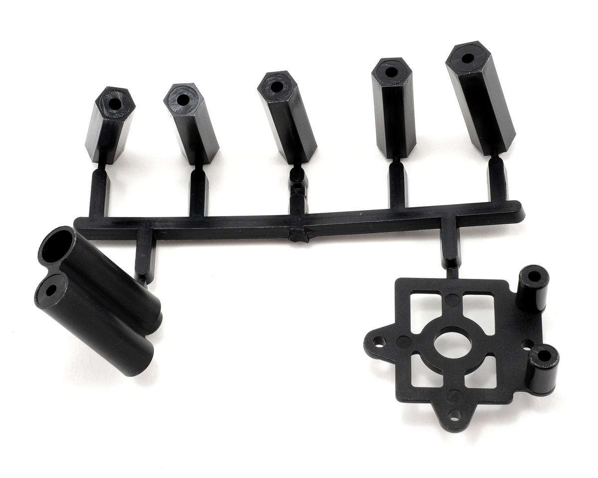 Plastic Post and Transponder Mount Set by Kyosho
