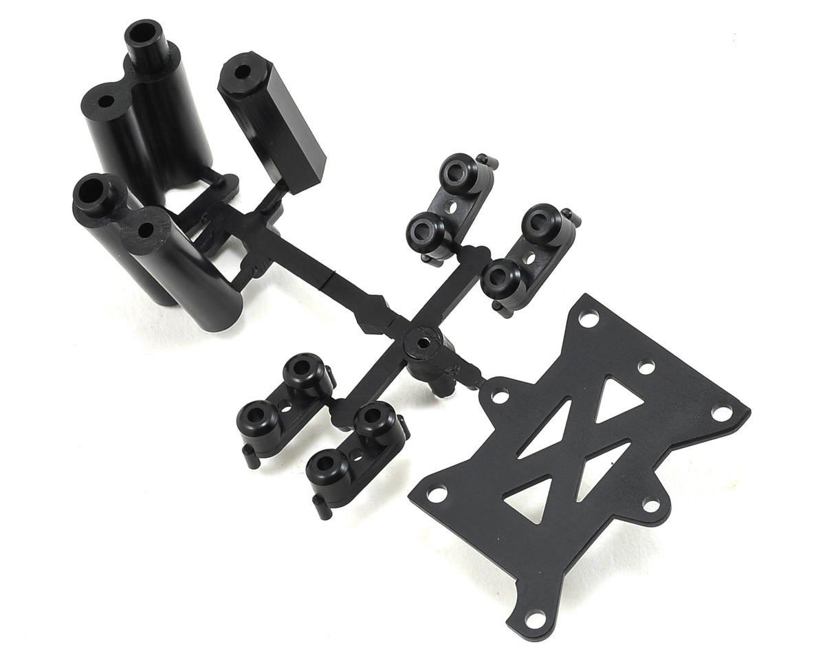 Plastic Fuel Tank Stay & Servo Tray Parts Set (TKI3/TKI4) by Kyosho