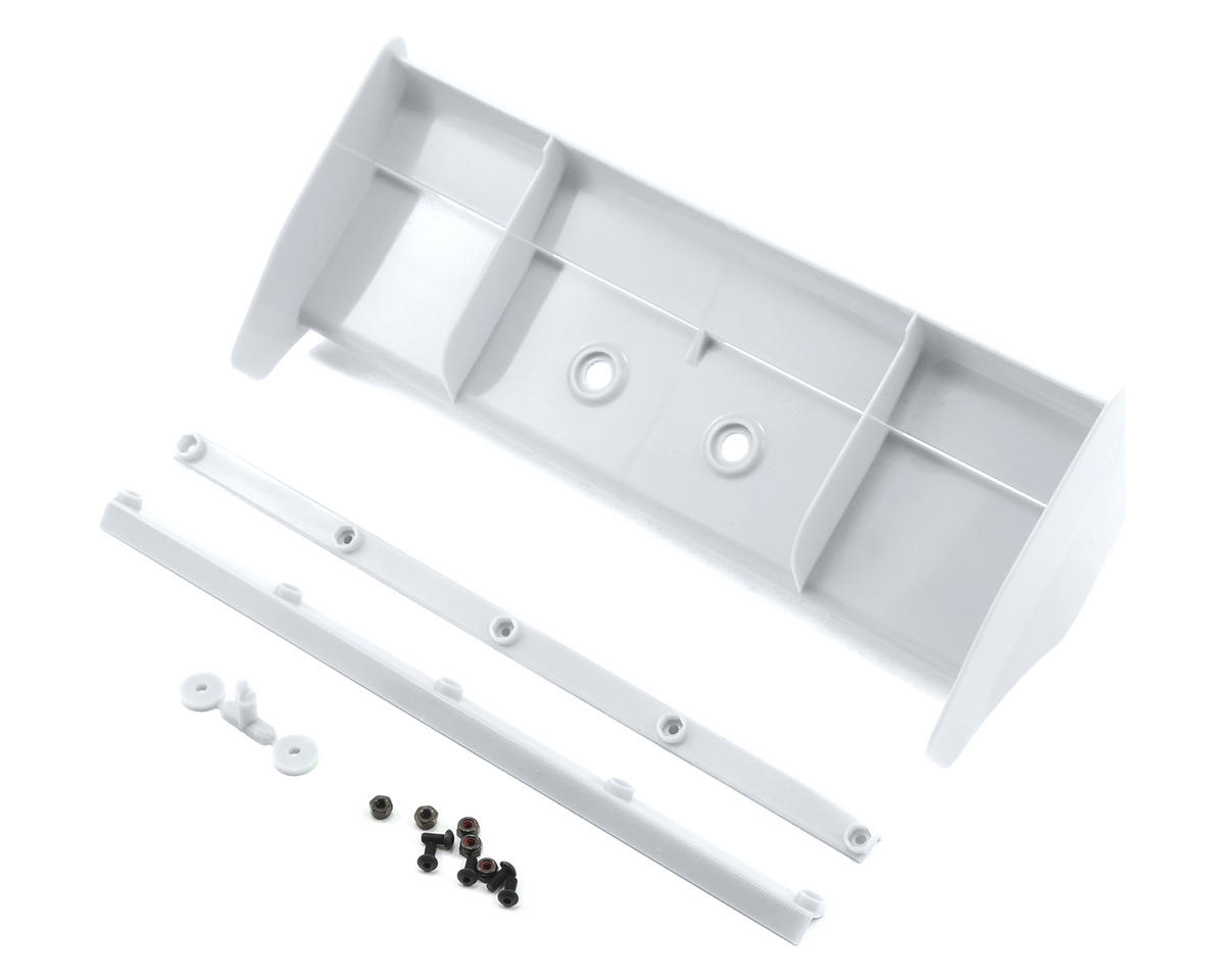 MP9 TKI4 1/8 Plastic Wing w/Wickerbills (White) by Kyosho