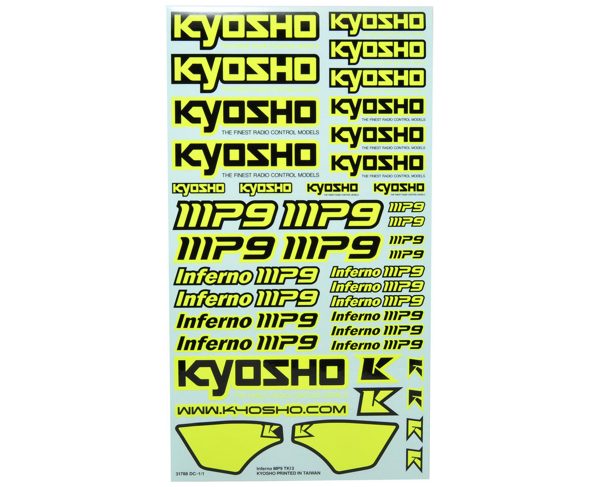 TKI3 Decal Sheet (Yellow) by Kyosho