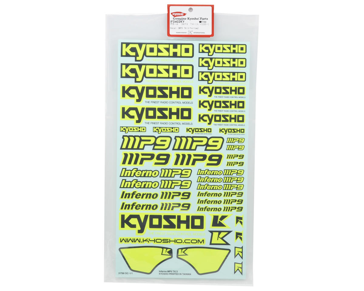 Kyosho TKI3 Decal Sheet (Yellow)