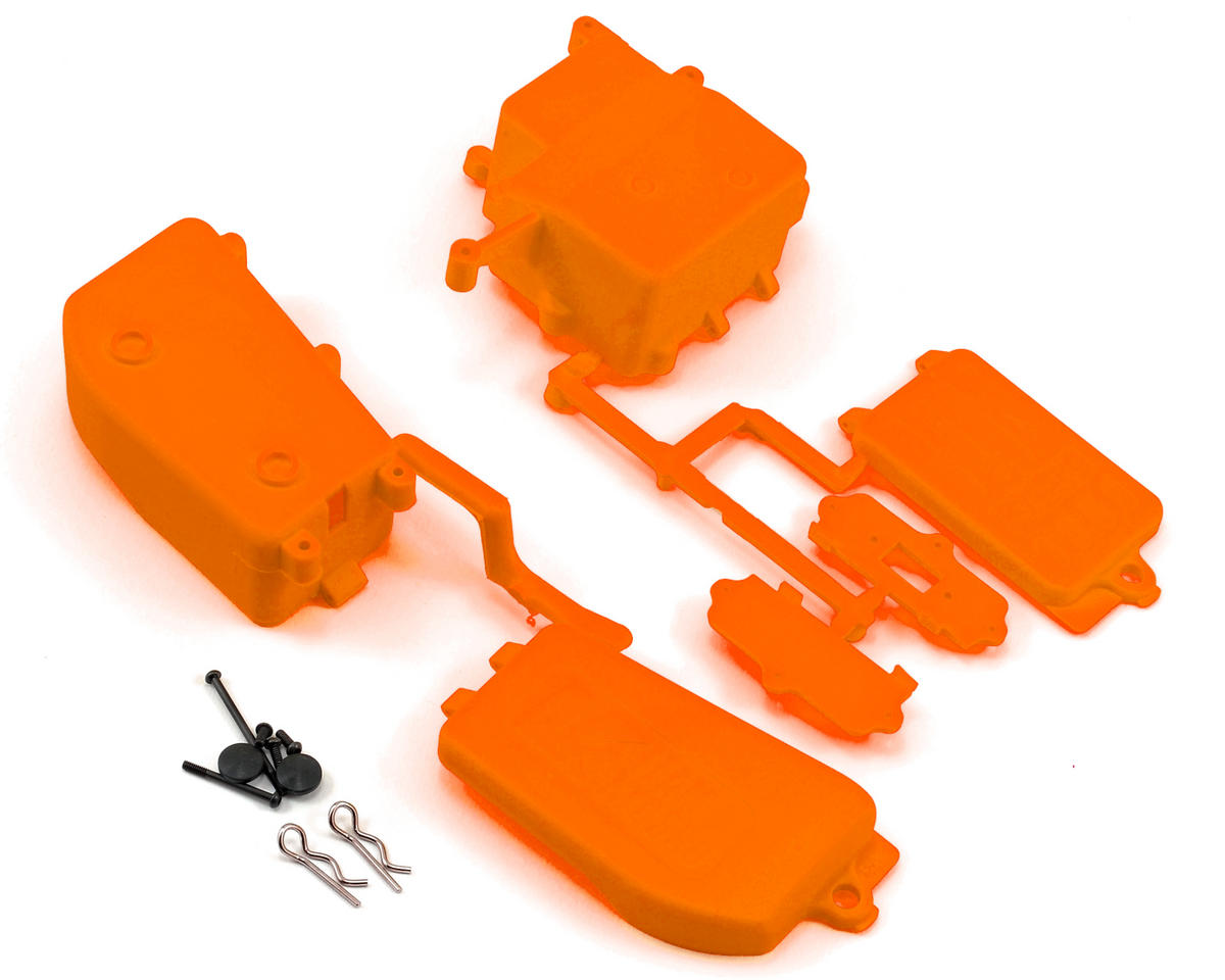 Kyosho MP9 TKI3 Battery & Receiver Box Set (Orange)