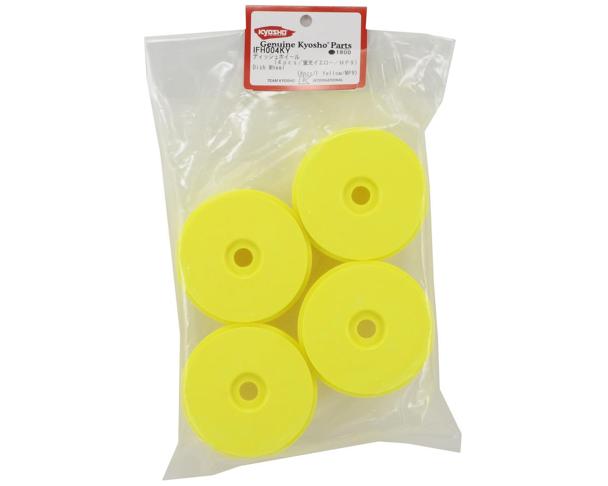 Kyosho 1/8th Off Road Dish Wheels (4) (Yellow)