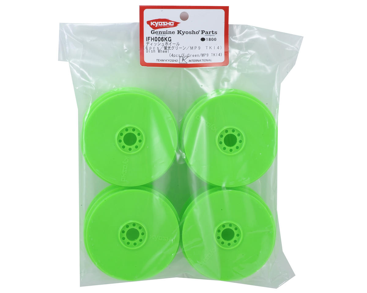 Kyosho MP9 TKI4 1/8th Off Road Dish Wheels (4) (Green)