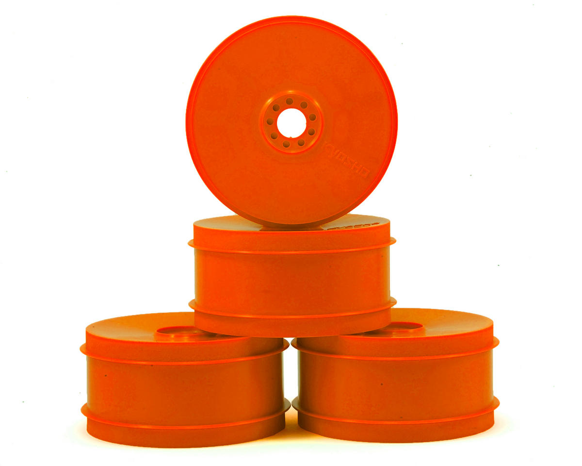 Kyosho MP9 TKI4 1/8th Off Road Dish Wheels (4) (Orange)