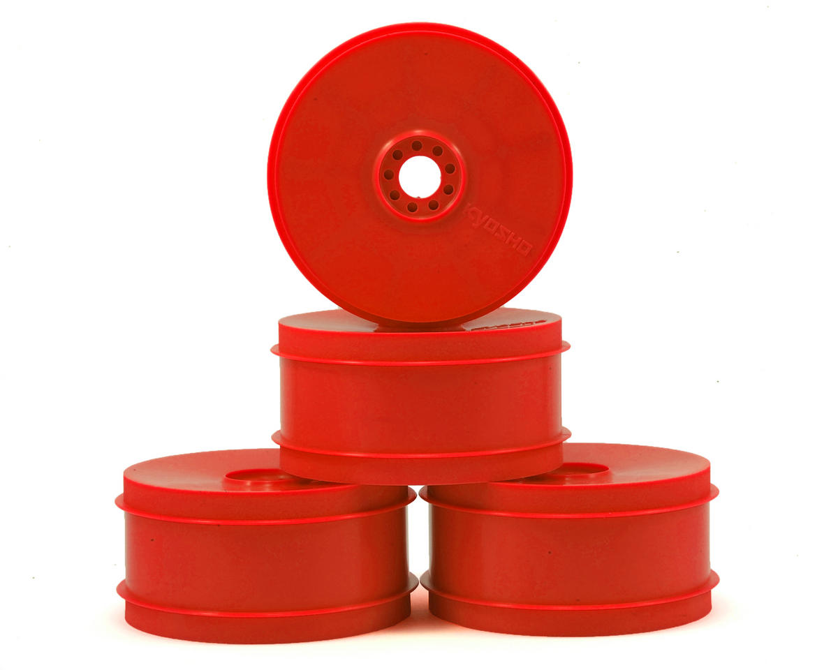 MP9 TKI4 1/8th Off Road Dish Wheels (4) (Red) by Kyosho
