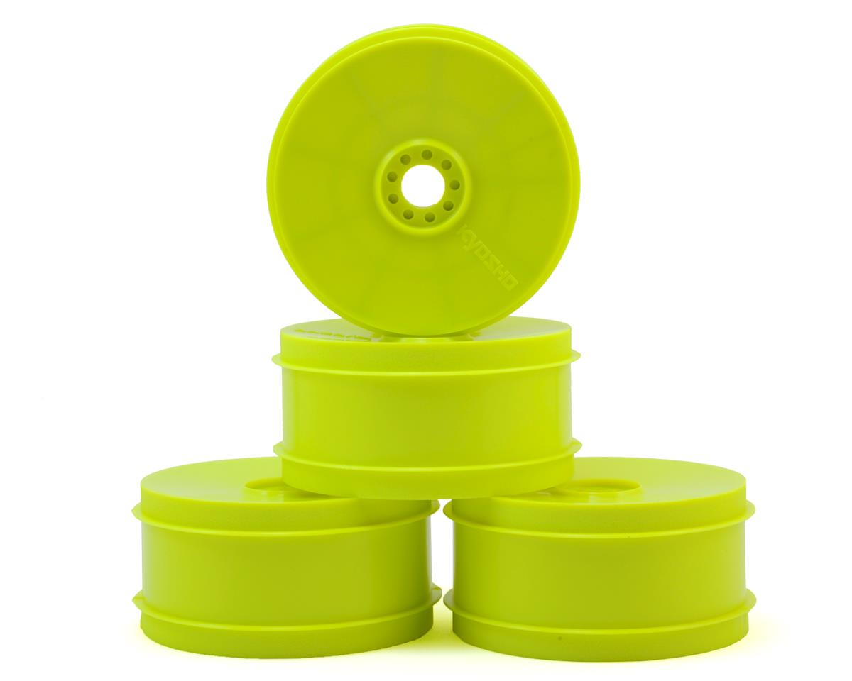 Kyosho 17mm Hex MP9 TKI4 1/8 Off-Road Dish Wheels (Yellow) (4) (Hard)