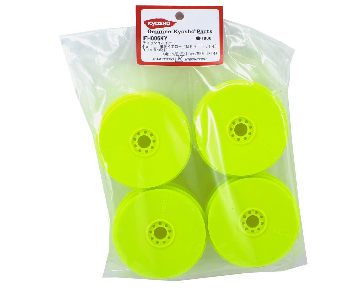 MP9 TKI4 1/8th Off Road Dish Wheels (4) (Yellow) by Kyosho