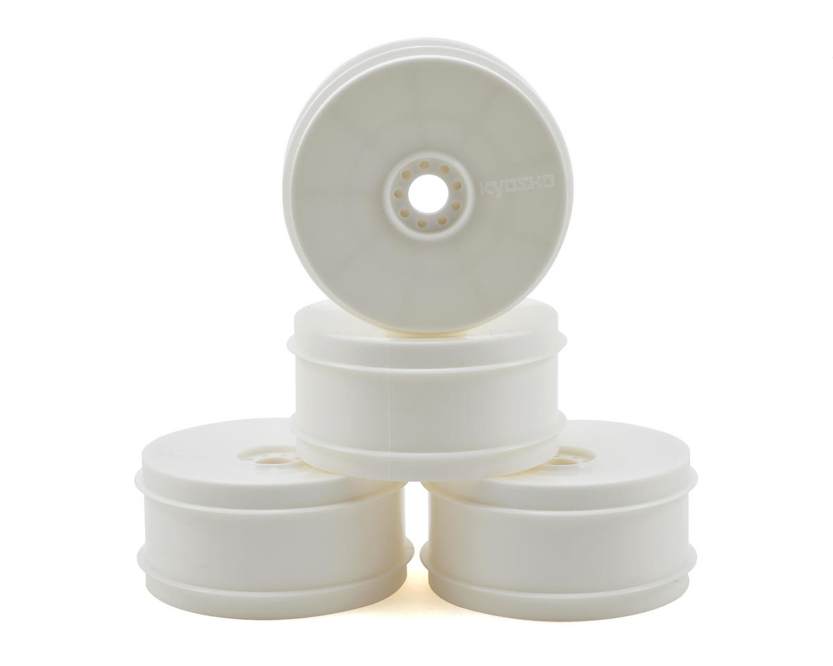 TKI4 1/8 Off-Road Dish Buggy Wheels (4) (White) by Kyosho