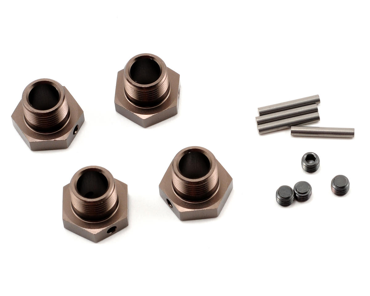 Kyosho Inferno GT/GT2 17mm Wheel Hubs (Gunmetal) (4)