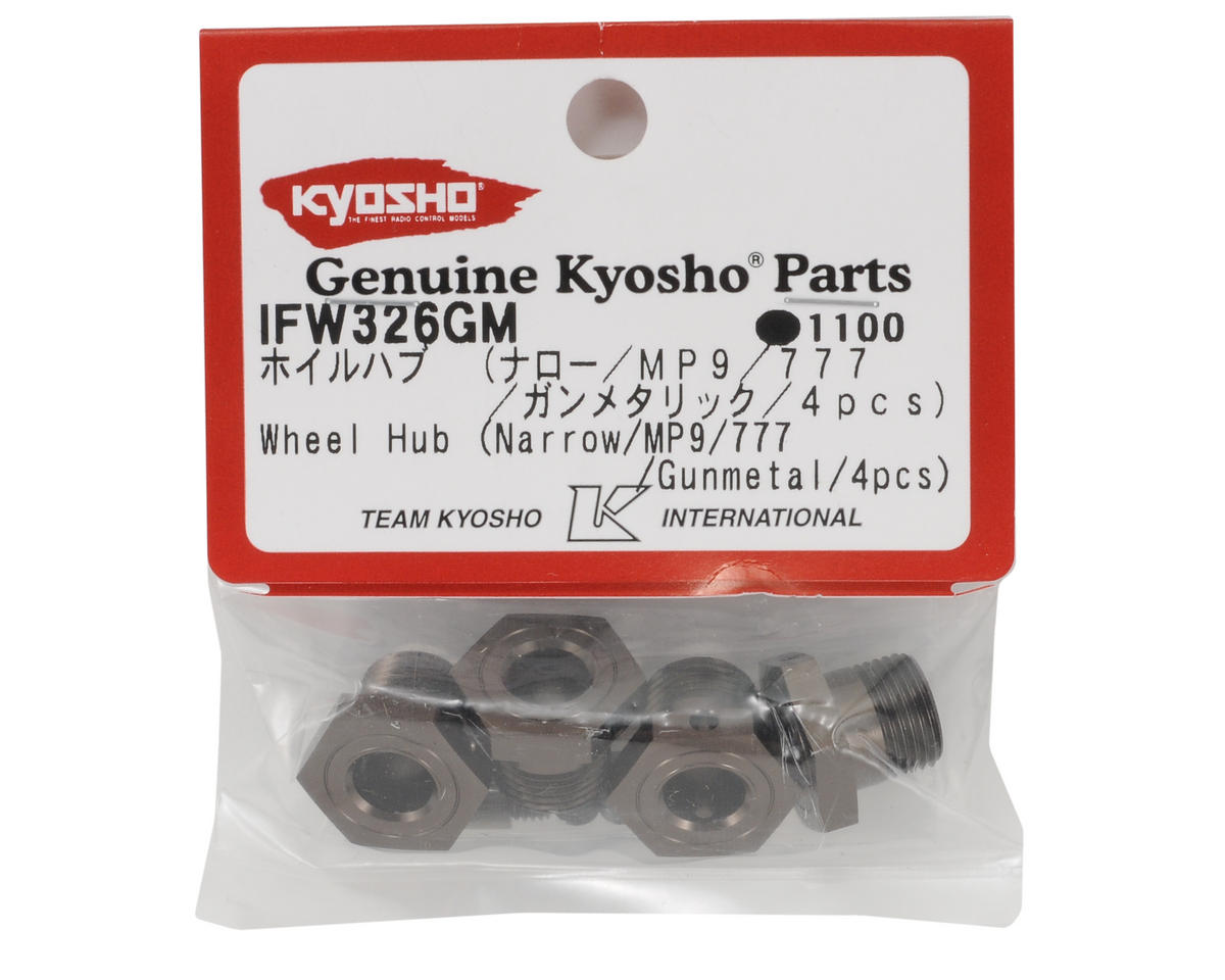 Kyosho Narrow Wheel Hub (Gunmetal) (4)