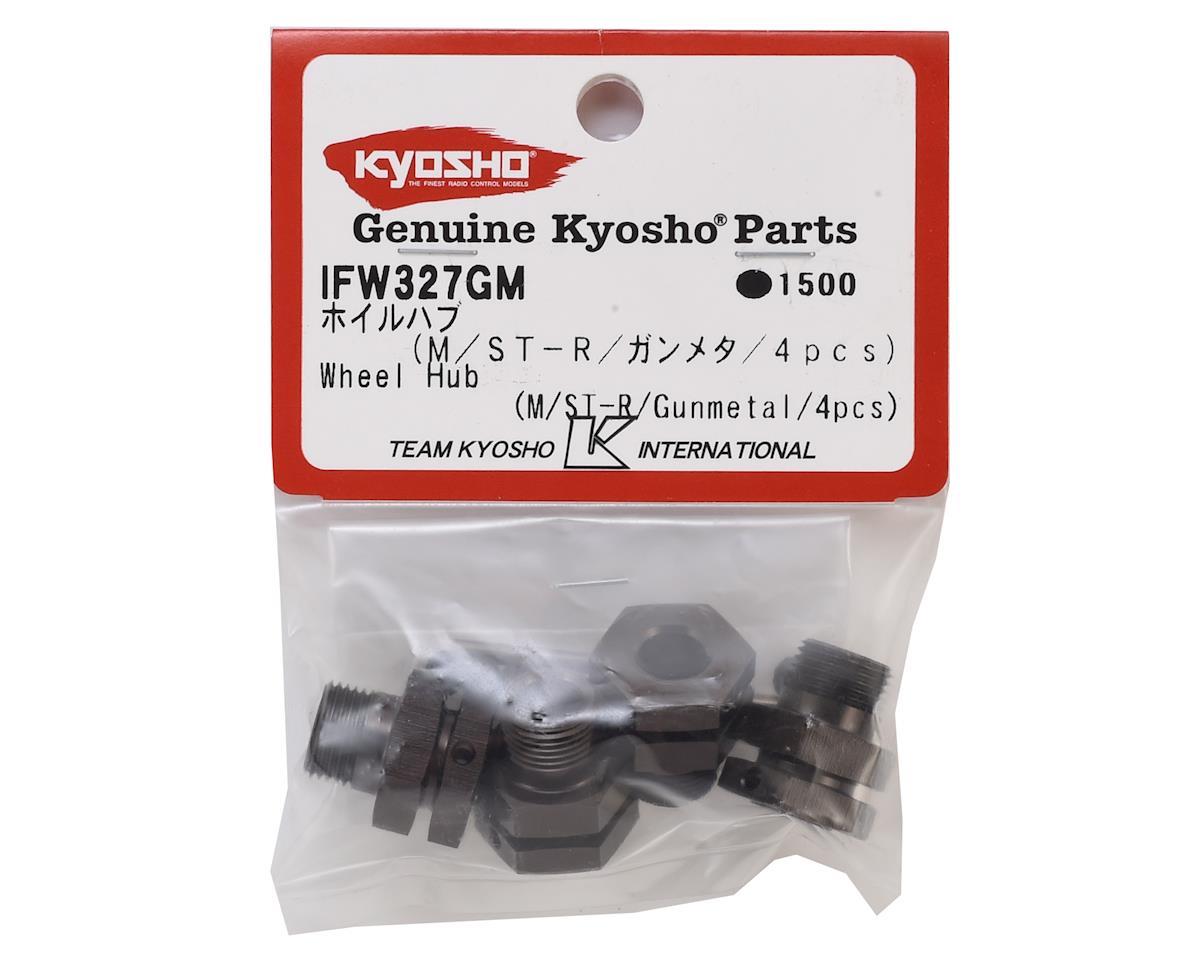 Kyosho 17mm Hex Wheel Hubs (Gun Metal) (4) (11mm Offset)