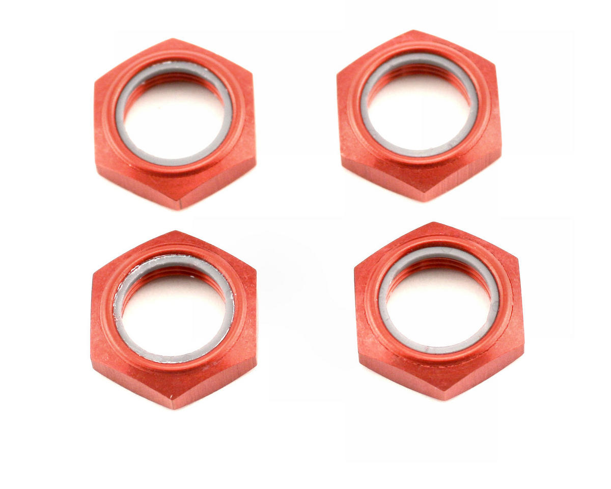 Kyosho Wheel Nut W/Nylon (Red) (4)
