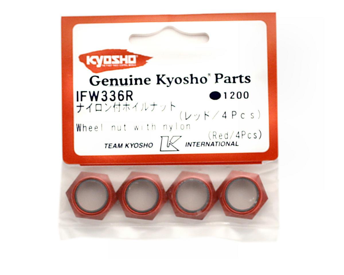 Wheel Nut W/Nylon (Red) (4) by Kyosho