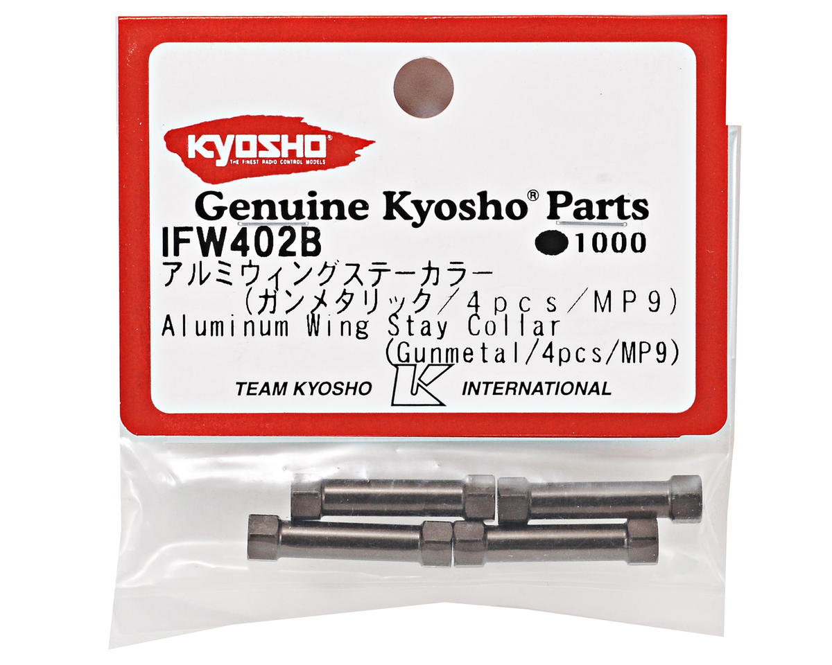SP Aluminum Wing Stay Collar Set (Gunmetal) (4) by Kyosho