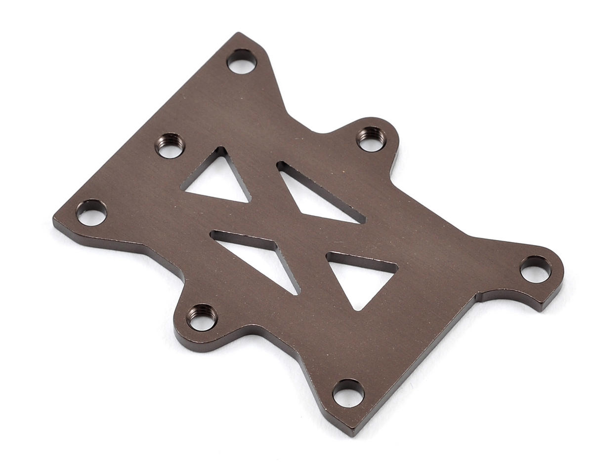 Aluminum Transponder Holder (Gun Metal) (TKI3/TKI4) by Kyosho